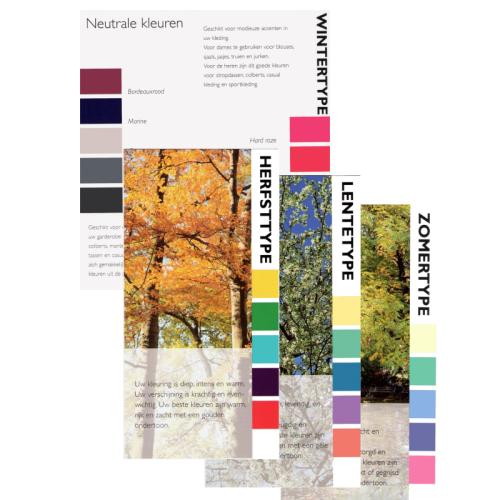 Set 40 gevouwen Kleurkaarten in 4 seizoenen